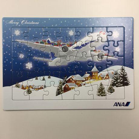 お土産に頂いたジグソーパズル。こちらもクリスマスバージョンです。