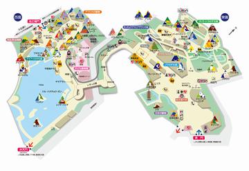 上野動物園内図